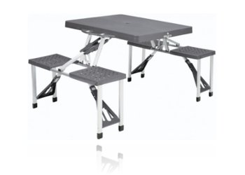 Table de camping achat table de camping pliante campz - Table pliante avec chaises integrees ...